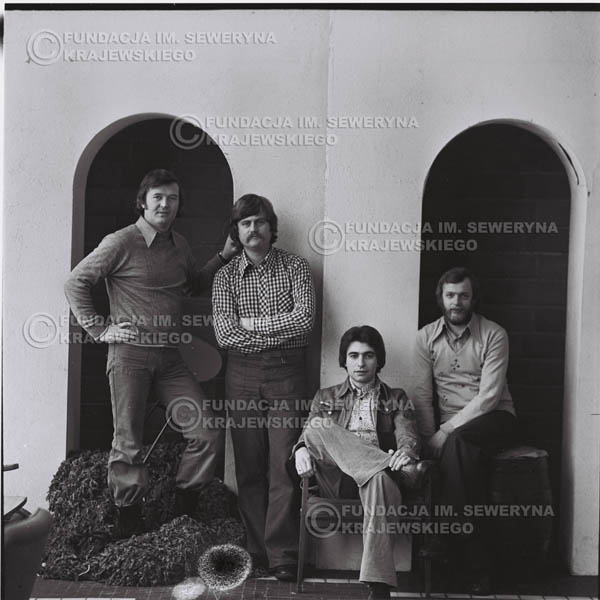 # 1063 - 1975r. Od lewej: Ryszard Kaczmarek, Bernard Dornowski, Seweryn Krajewski, Jerzy Skrzypczyk