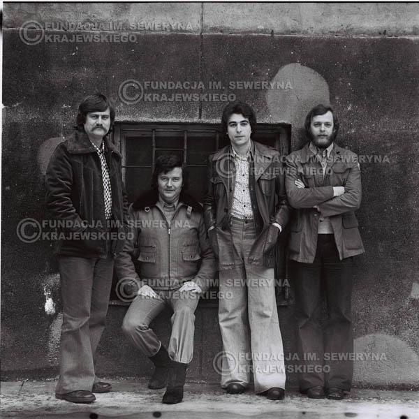 # 1066 - 1975r. Od lewej: Ryszard Kaczmarek, Bernard Dornowski, Seweryn Krajewski, Jerzy Skrzypczyk
