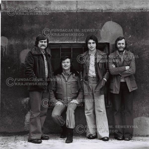 # 1067 - 1975r. Od lewej: Ryszard Kaczmarek, Bernard Dornowski, Seweryn Krajewski, Jerzy Skrzypczyk
