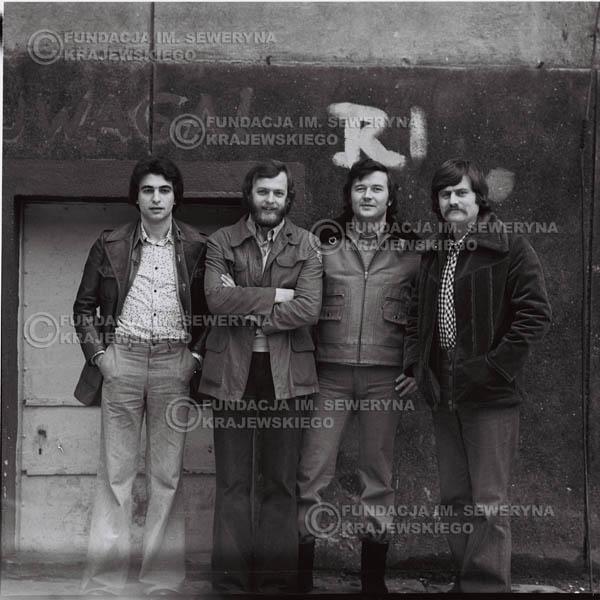 # 1071 - 1975r. od lewej: Seweryn Krajewski, Jerzy Skrzypczyk, Bernard Dornowski, Ryszard Kaczmarek