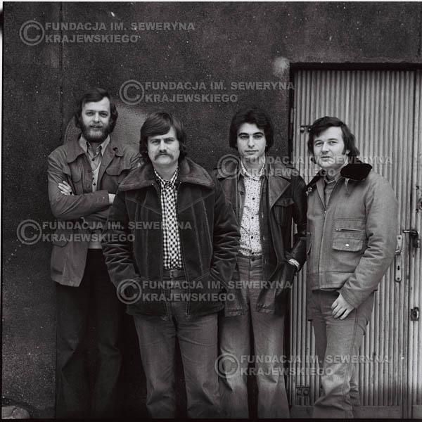# 1075 - 1975r. od lewej: Jerzy Skrzypczyk, Ryszard Kaczmarek, Seweryn Krajewski, Bernard Dornowski