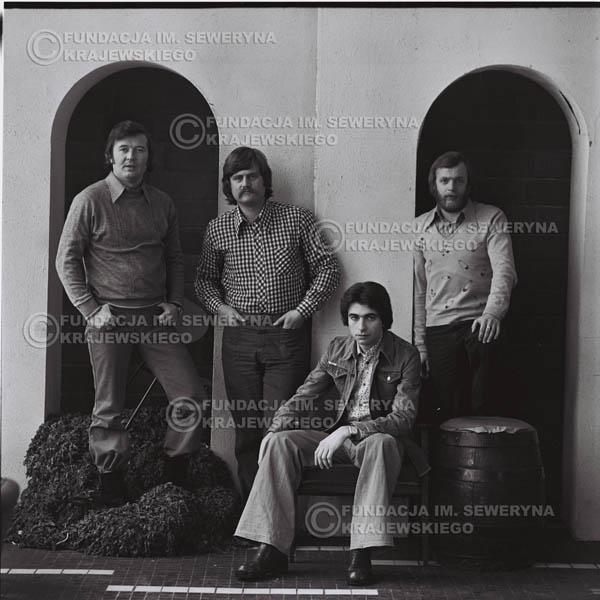 # 1077 - 1975r. od lewej: Bernard Dornowski, Ryszard Kaczmarek, Seweryn Krajewski, Jerzy Skrzypczyk