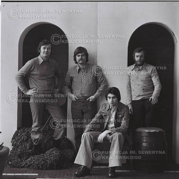 # 1078 - 1975r. od lewej: Bernard Dornowski, Ryszard Kaczmarek, Seweryn Krajewski, Jerzy Skrzypczyk