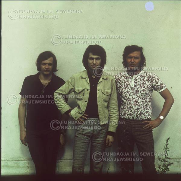 # 1109 - Czerwone Gitary 1970r. Jerzy Skrzypczyk, Seweryn Krajewski, Bernard Dornowski.