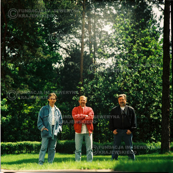 # 1159 - 1991r. sesja zdjęciowa w Michalinie, come back Czerwonych Gitar w składzie: Seweryn Krajewski, Bernard Dornowski, Jerzy Skrzypczyk