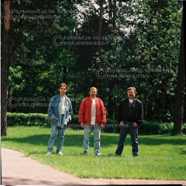 # 1160 - 1991r. sesja zdjęciowa w Michalinie, come back Czerwonych Gitar w składzie: Seweryn Krajewski, Bernard Dornowski, Jerzy Skrzypczyk