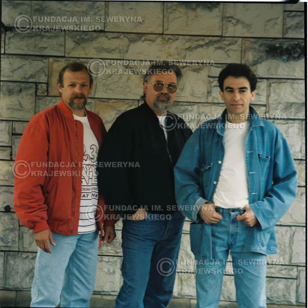 # 1176 - 1991r. sesja zdjęciowa w Michalinie, come back Czerwonych Gitar w składzie: Seweryn Krajewski, Jerzy Skrzypczyk, Bernard Dornowski.