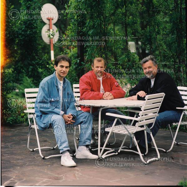 # 1185 - 1991r. sesja zdjęciowa w Michalinie, come back Czerwonych Gitar w składzie: Seweryn Krajewski, Jerzy Skrzypczyk, Bernard Dornowski.