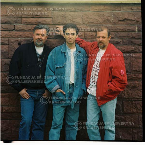 # 1187 - 1991r. sesja zdjęciowa w Michalinie, come back Czerwonych Gitar w składzie: Seweryn Krajewski, Jerzy Skrzypczyk, Bernard Dornowski.