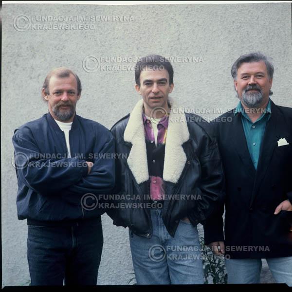 # 1205 - 1991r. sesja zdjęciowa w Michalinie, come back Czerwonych Gitar w składzie: Seweryn Krajewski, Bernard Dornowski, Jerzy Skrzypczyk.