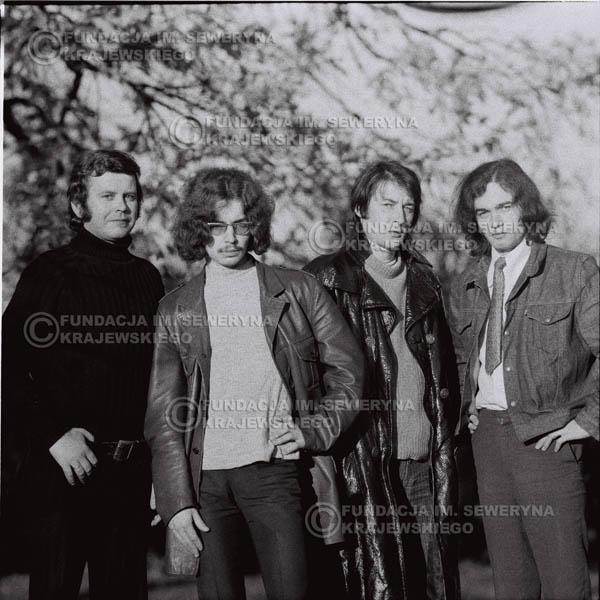 # 510 - 'Trzy Korony' 1970r - Od lewej: Ryszard Klenczon, Grzegorz Andrian Krzysztof Klenczon, Piotr Stajkowski