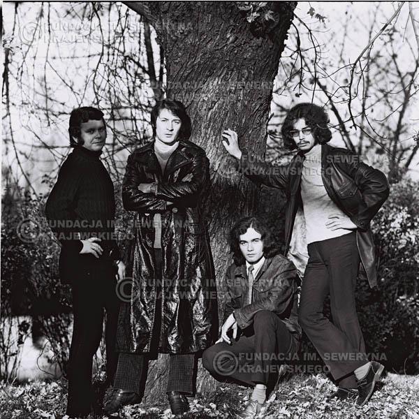 # 518 - 'Trzy Korony' 1970r  - Od lewej:Ryszard Klenczon, Krzysztof Klenczon, Piotr Stajkowski,  Grzegorz Andrian.