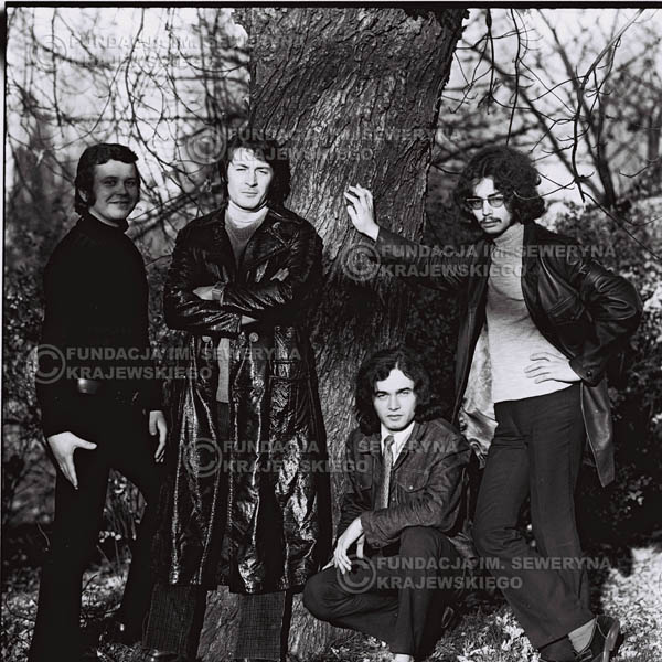 # 521 - 'Trzy Korony' 1970r - Od lewej:  Ryszard Klenczon, Krzysztof Klenczon, Piotr Stajkowski,  Grzegorz Andrian.