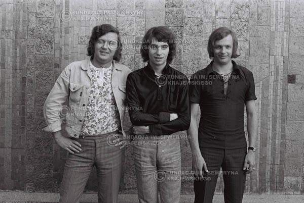 # 785 - 1970r. Warszawa, Czerwone Gitary w składzie: Seweryn Krajewski, Bernard Dornowski, Jerzy Skrzypczyk