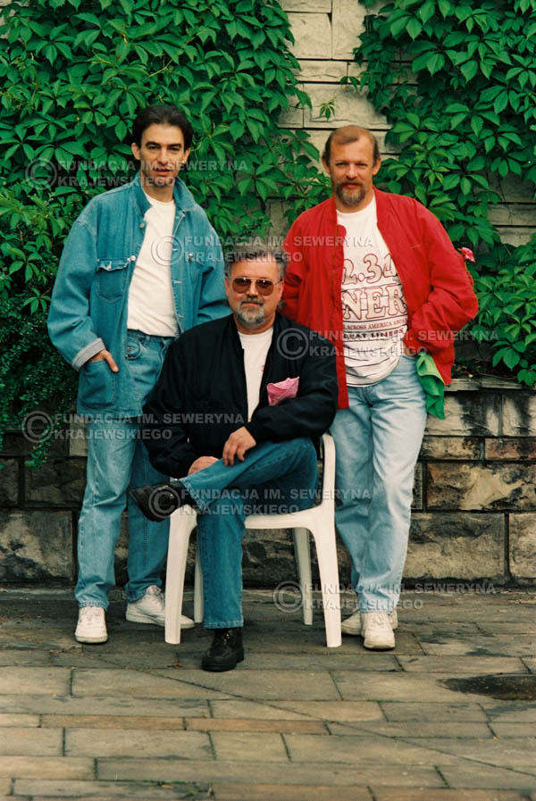 # 896 - 1991r. sesja zdjęciowa w Michalinie, Czerwone Gitary w składzie (come back):Seweryn Krajewski, Bernard Dornowski, Jerzy Skrzypczyk